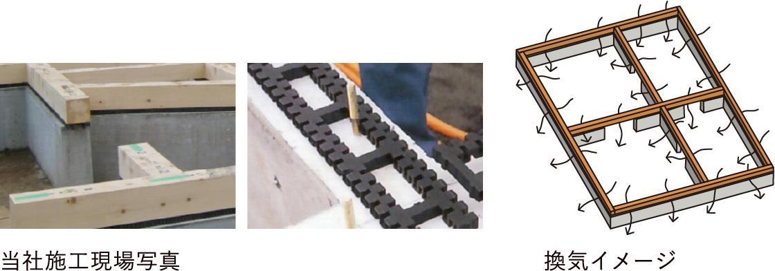 湿気の少ない床下構造